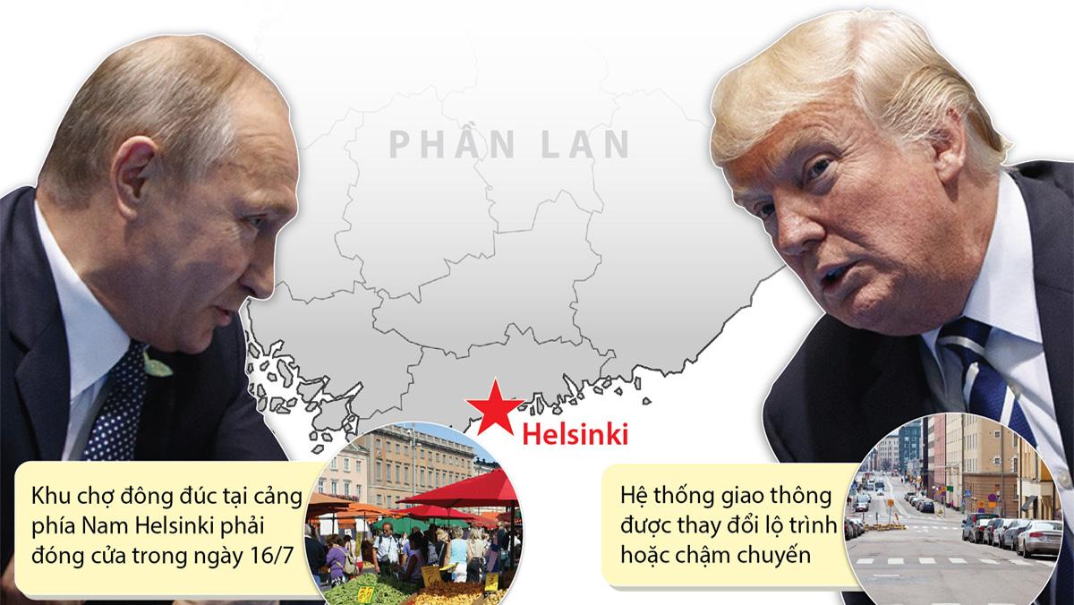 Thủ đô Helsinki của Phần Lan đã sẵn sàng cho cuộc gặp thượng đỉnh Nga-Mỹ